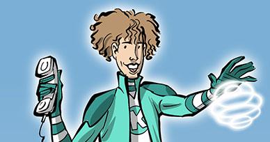Lady Ela, hygiéniste dentaire, super héros